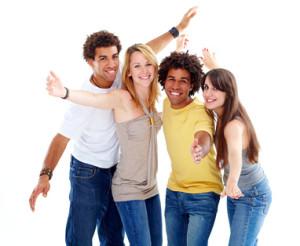 A group of happy mid-twenties
